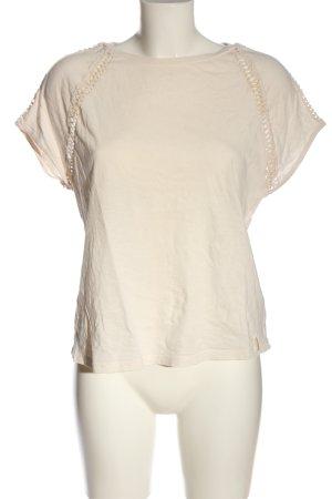 Pepe Jeans Camisa de cuello barco blanco puro punto trenzado look casual