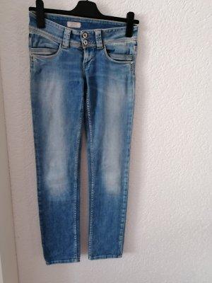 Pepe Jeans London Jeansy biodrówki jasnoniebieski Bawełna