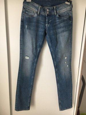 Pepe Jeans Jeansy z prostymi nogawkami niebieski