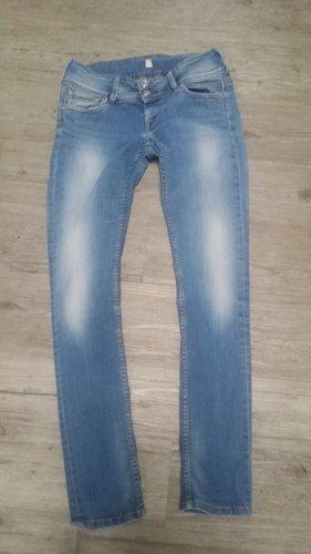 Pepe Jeans Pantalone a vita bassa azzurro Cotone