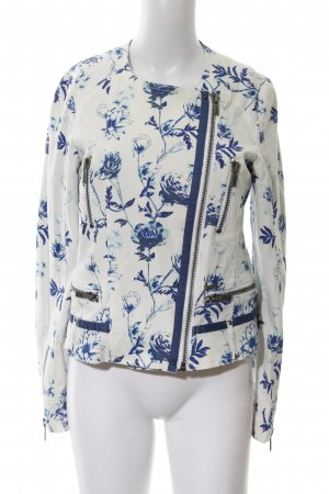 Pepe Jeans Waxed Jacket flower pattern elegant