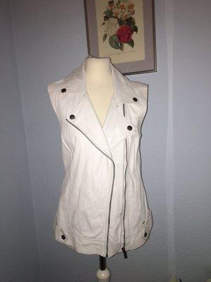 Pepe Jeans weiße Lederweste