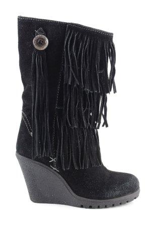 Pepe Jeans Boots western noir élégant