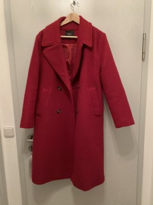 Pepe Jeans Cappotto in lana rosso lampone