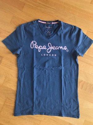 Pepe Jeans T-shirt ciemnoniebieski-niebieski