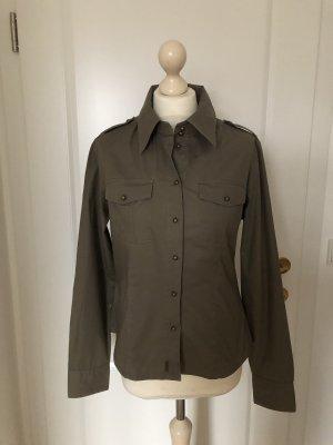 PepeJeans Langarm Bluse Militarystyle khaki