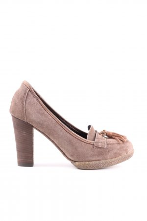 Peperosa Hochfront-Pumps creme Casual-Look