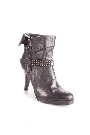 Peperosa Reißverschluss-Stiefeletten schwarz Rockabilly-Look