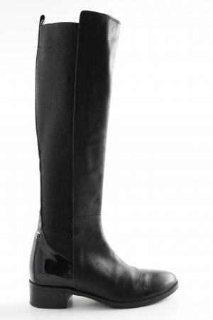Peperosa Stretchstiefel schwarz Business-Look