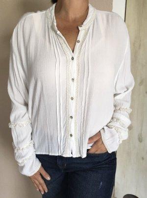 Pepita Pérez Oversized Blouse natural white