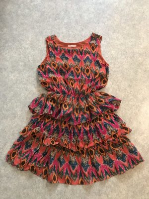 Peplum Schößchen Kleid Sommerkleid Chiffon mit Print von Loft