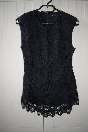 Zara Blusa de manga corta negro