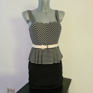 Peplumkleid Schößchenkleid Kleid Charlotte Russe Gr.S 34 36 stretch edel