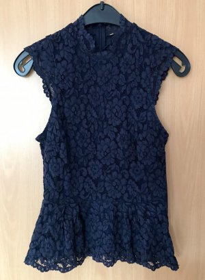 H&M Peplum Top dark blue