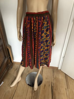 Blue Motion Plisowana spódnica ciemnoczerwony-pomarańczowy neonowy