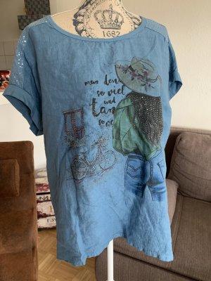Peppiges Italy Shirt - OneSize - Lady - Blue/Green - OverSized