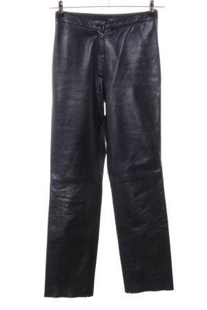 Per Me Pantalón de cuero negro elegante