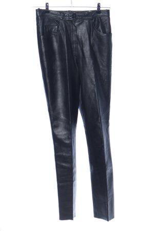 Per Me Lederhose schwarz extravaganter Stil