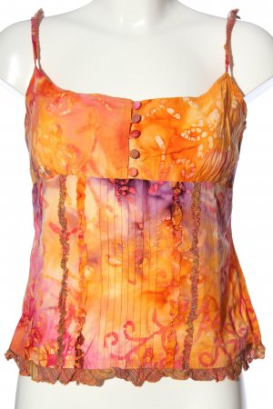 per una by Marks & Spencer Camisoles light orange-lilac abstract pattern
