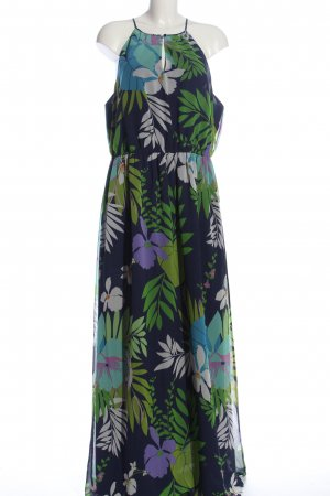 per una by Marks & Spencer Maxikleid blau-lila Allover-Druck Casual-Look