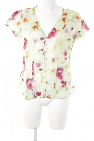 per una by Marks & Spencer Transparenz-Bluse Blumenmuster Casual-Look