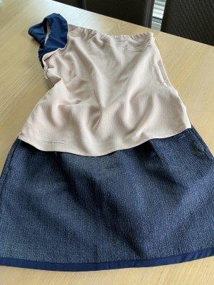 Sisley Falda de patinador crema-azul oscuro
