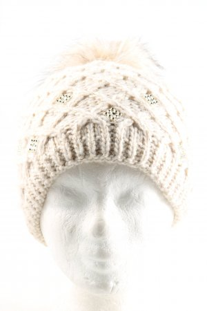 perfect Chapeau en tricot blanc torsades style décontracté