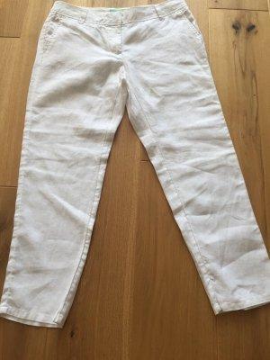 Boden Pantalone a 7/8 bianco Lino