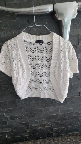 Blind Date Short Sleeve Knitted Jacket white