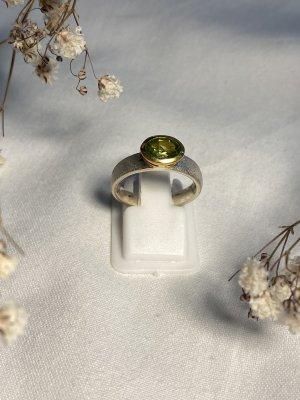 Anello d'argento verde