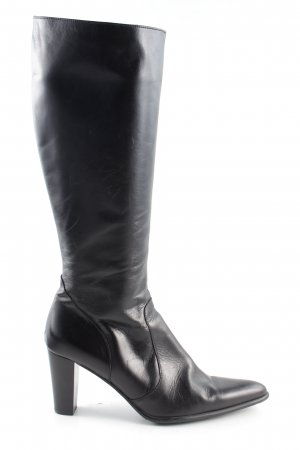Perlato Absatz Stiefel schwarz Business-Look