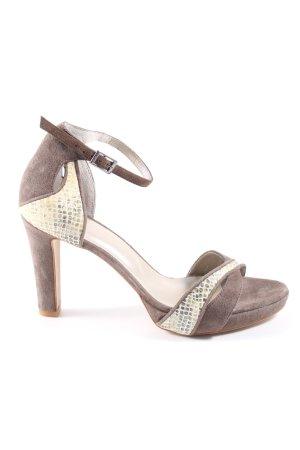 Perlato High Heel Sandaletten braun Casual-Look