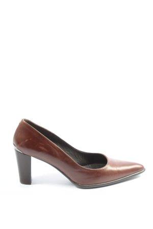 Perlato High Heels braun Business-Look
