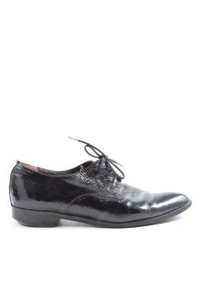 Perlato Chaussure Oxford noir style décontracté