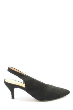 Perlato Slingback Pumps black business style