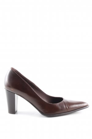 Perlato Spitz-Pumps braun Business-Look