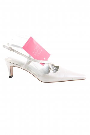 Perlato Spitz Pumps weiß Elegant