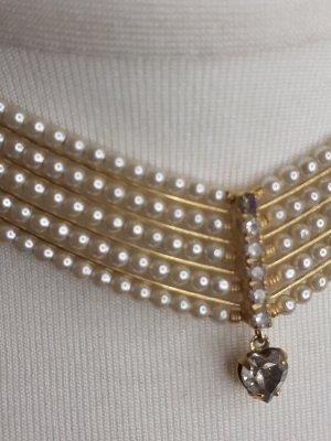 Collar estilo collier color bronce