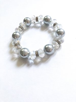 Pearl Bracelet grey-silver-colored