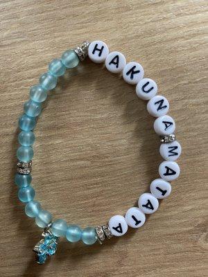 Pearl Bracelet white-light blue