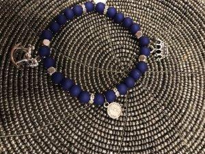 Bracciale charm bronzo-blu