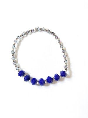 Pearl Bracelet silver-colored-blue