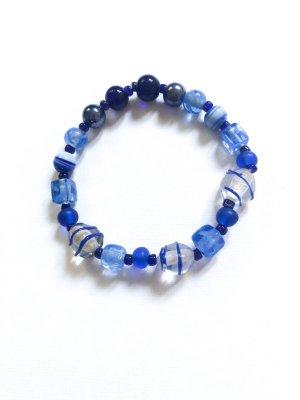 Perlen Armband Blautöne