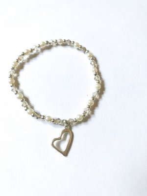 Pearl Bracelet silver-colored-white