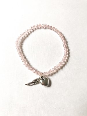 Pearl Bracelet light pink-silver-colored