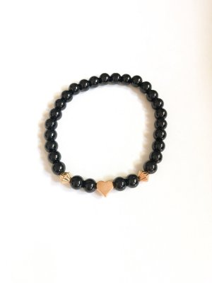 Pearl Bracelet black-gold-colored