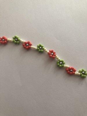 Perlen Armband/Kette Blumen