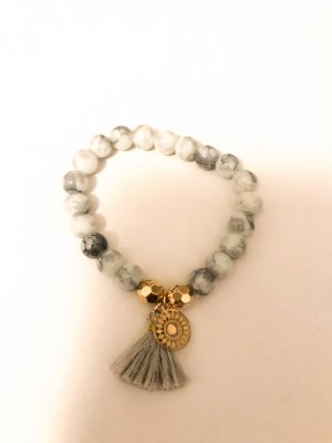 Perlen Armband Marmor Quaste
