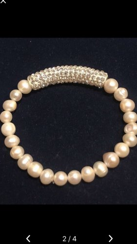 Bracelet argenté-blanc
