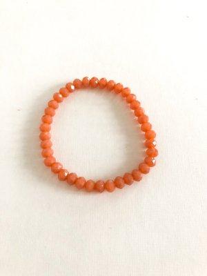 Bracelet en perles abricot-orange clair